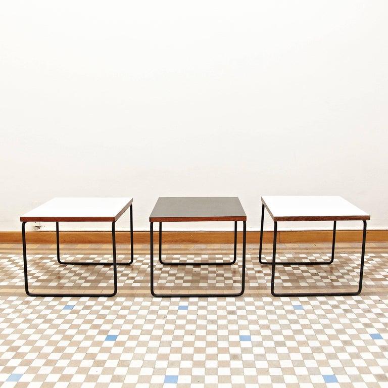 Mid-Century Modern Set of Three Pierre Guariche Side Table for Steiner, circa 1950