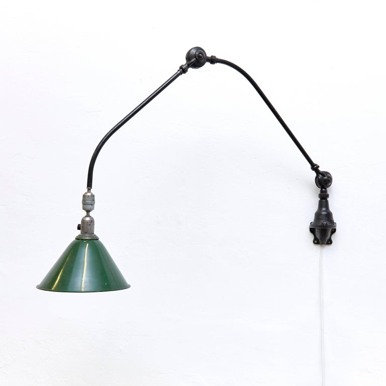 Mid-Century Modern Johan Petter Johansson Triplex Wall Lamp, circa 1930 For Sale