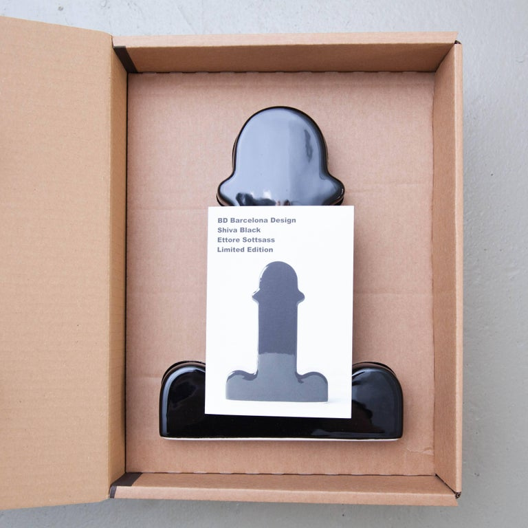 Ettore Sottsass Shiva Limited Edition Black 74/100 For Sale 1