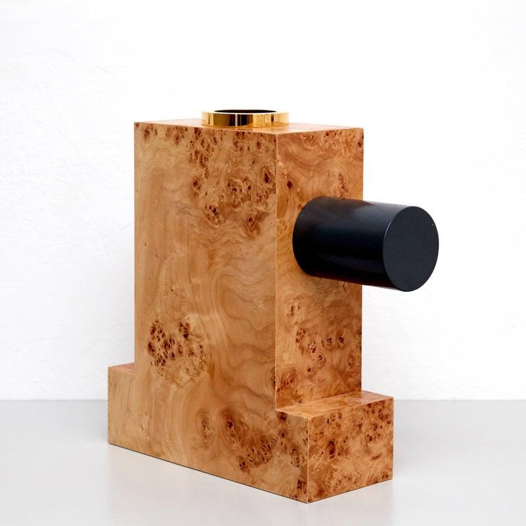 Modern Ettore Sottsass Twenty-Seven Woods for a Chinese Artificial Flower Vase K For Sale
