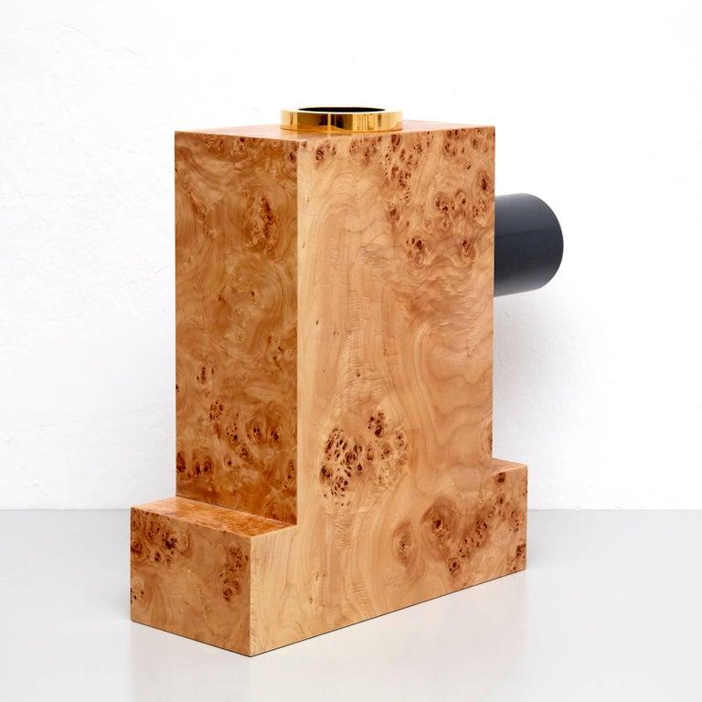 European Ettore Sottsass Twenty-Seven Woods for a Chinese Artificial Flower Vase K For Sale