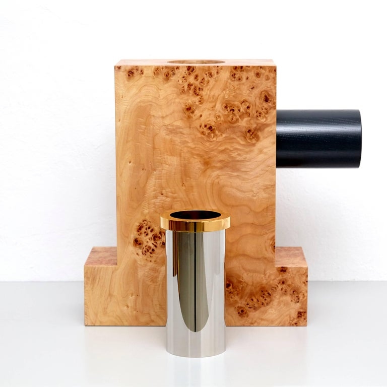 Ettore Sottsass Twenty-Seven Woods for a Chinese Artificial Flower Vase K For Sale 3