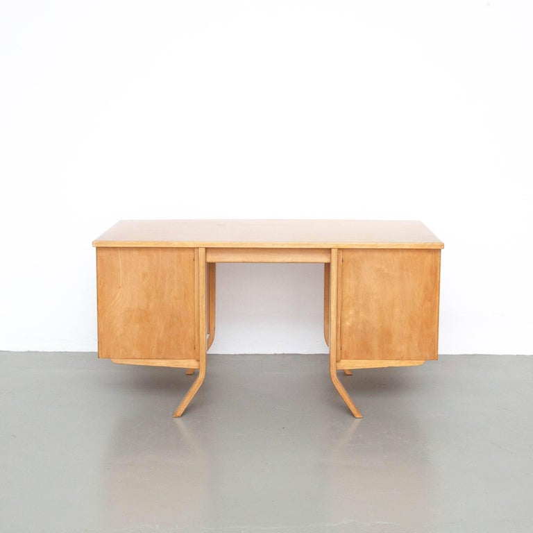 Cees Braakman EB04 Birch Desk, circa 1950 For Sale 2