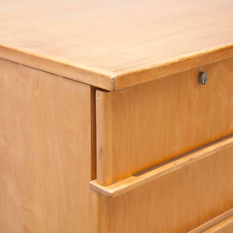 Mid-20th Century Cees Braakman EB04 Birch Desk, circa 1950 For Sale