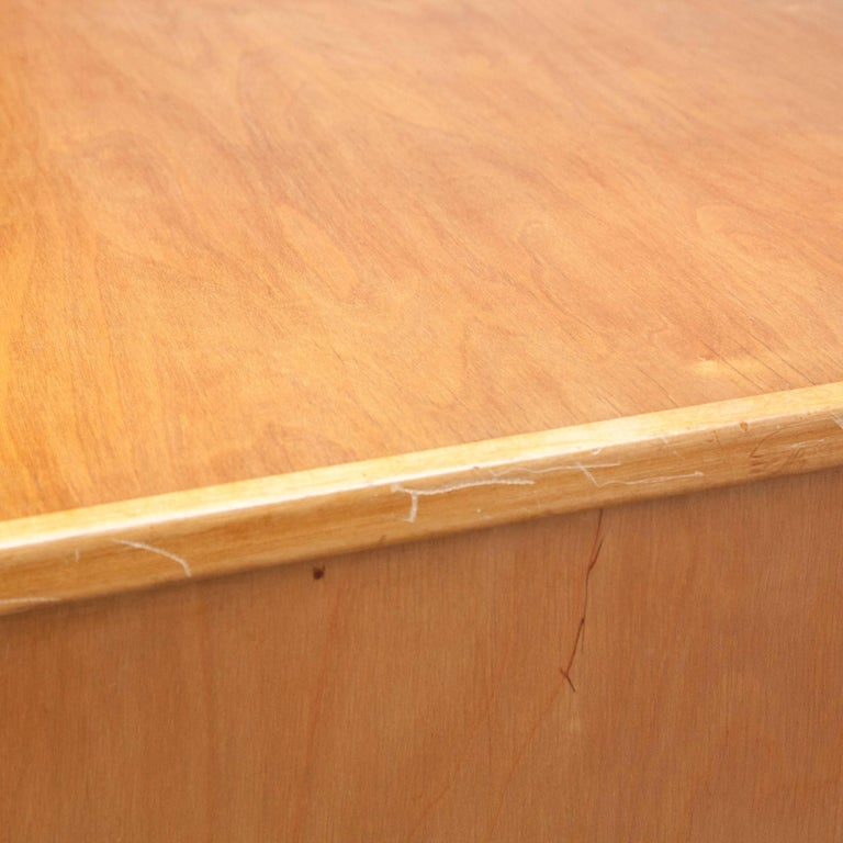 Wood Cees Braakman EB04 Birch Desk, circa 1950 For Sale
