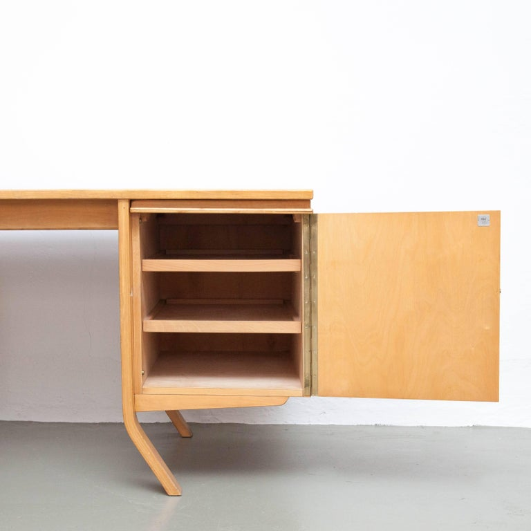 Dutch Cees Braakman EB04 Birch Desk, circa 1950 For Sale
