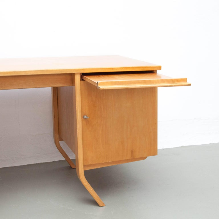 Mid-Century Modern Cees Braakman EB04 Birch Desk, circa 1950 For Sale