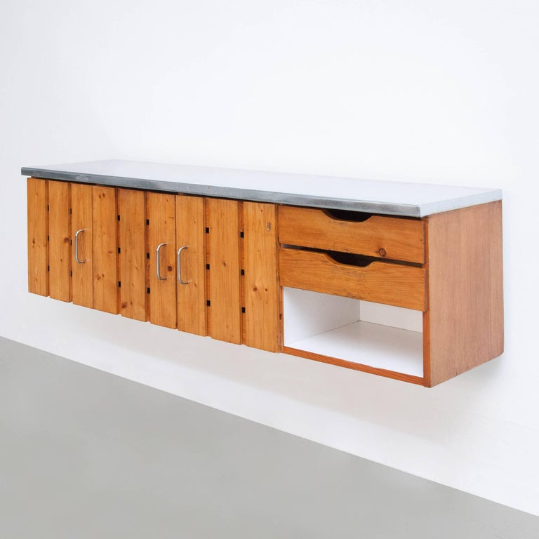 Mid-Century Modern Charlotte Perriand Sideboard for Les Arcs, circa 1960 For Sale