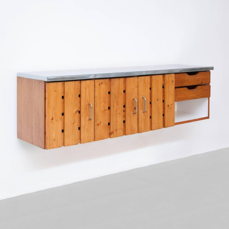Sideboard designed by Charlotte Perriand for Les Arcs, circa 1960. 