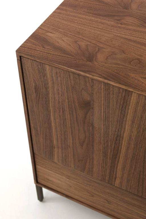 Contemporary Sideboard Barbara in Massive Natural Walnut with Three Drawers and Two Doors For Sale