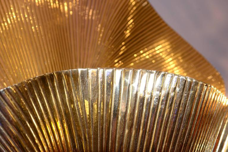 Ginko Biloba Floor Lamp in Polished Brass For Sale 1