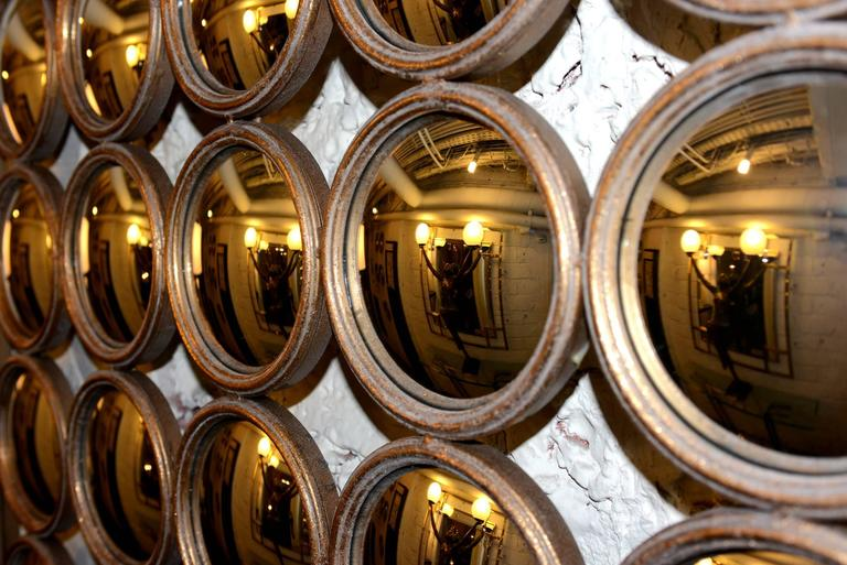 Square mirror 36 faceted round convex mirrors for sale at for Miroir egyptien