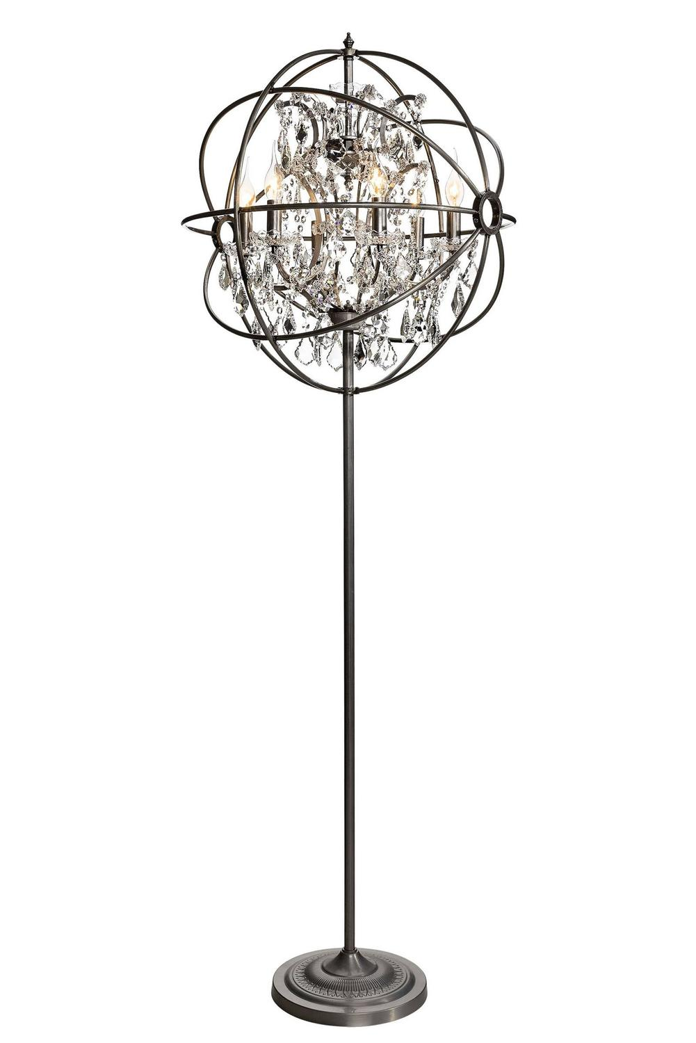 Crystal Antique Floor Lamp Iron And Crystal For Sale At