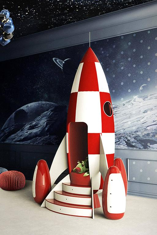 Children Rocket Chair In Fiber Glass And Wood For Sale At