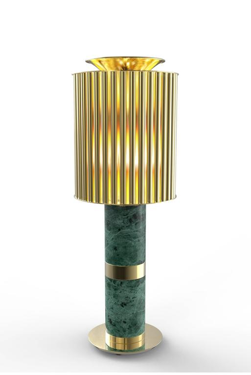 Excellence Table Lamp, Brass and Estremoz Marble For Sale 4