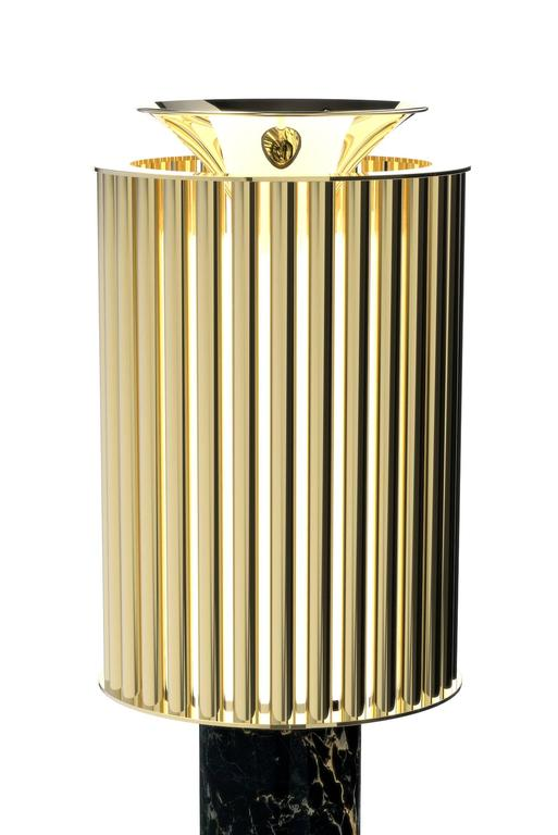 Table lamp excellence with Estremoz marble and