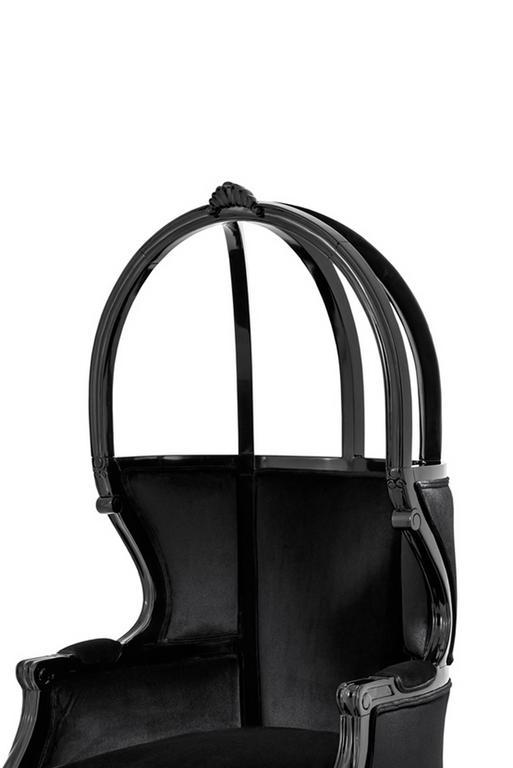 Buckingham Armchair in Black Velvet  3