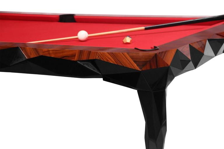 Portuguese Champion Snooker Palisander Wood Baroque Details For Sale