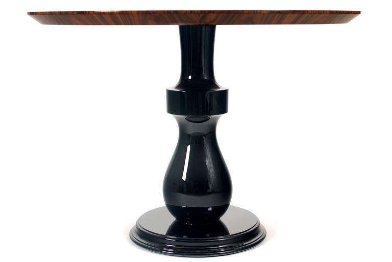 Contemporary Chess Coffee Table in Matched Wood Veneer Rosewood Top For Sale