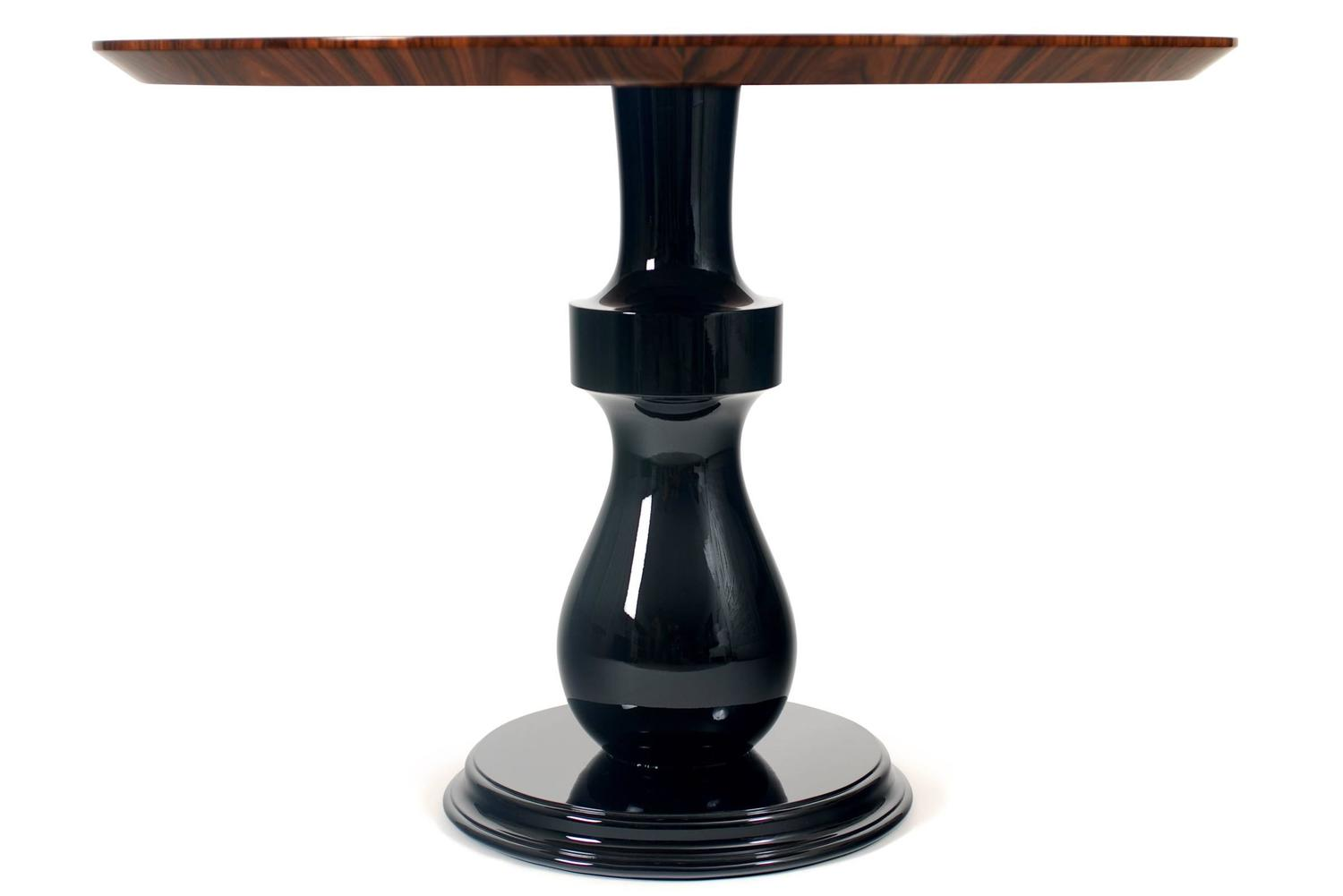 chess coffee table in matched wood veneer rosewood top for
