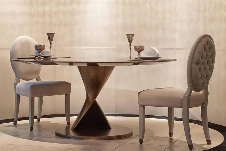 Eva Round Table Bronze and Solid Ebony Top In Excellent Condition For Sale In Paris, FR
