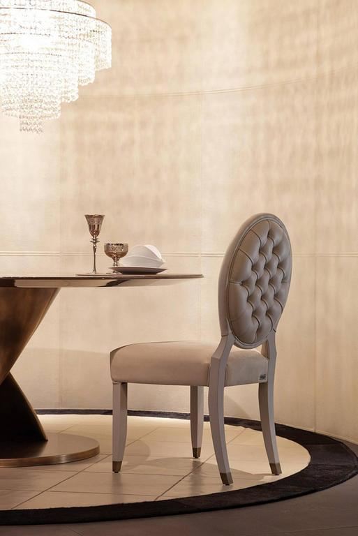 Contemporary Lisa Chair in Fabric with Wood Structure For Sale