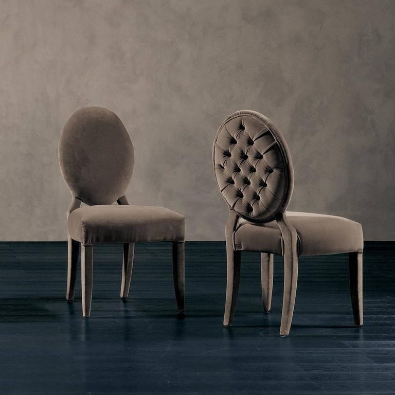 Lisa Chair in Fabric with Wood Structure In Excellent Condition For Sale In Paris, FR