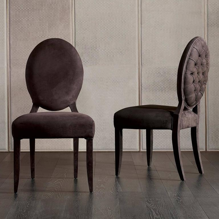 Chair Lisa with fabric Cat A with wood structure  or lacquered structure. Available with genuine  leather Cat C, price: 4950.00€.
