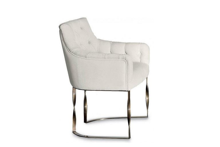 Katawa Chair Leather and Bronze Structure In Excellent Condition For Sale In Paris, FR