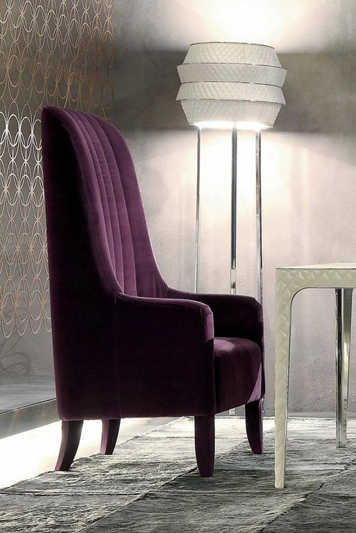 Ramses Armchair in Fabric with Wood Structure In Excellent Condition For Sale In Paris, FR
