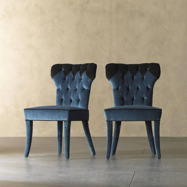 Catalina Chair in Fabric and Wood Structure In Excellent Condition For Sale In Paris, FR