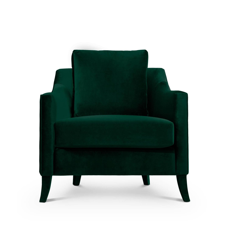 british green armchair in cotton velvet for sale at 1stdibs