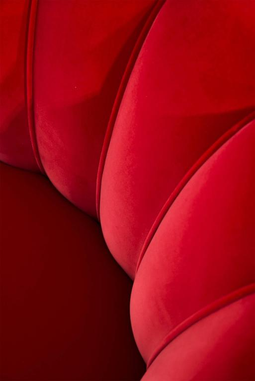 Red Dragon Armchair in Red Velvet 6