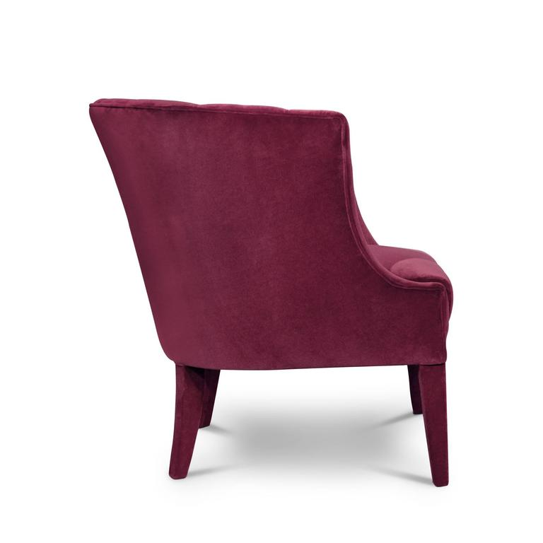 Armchair Camilla in cotton velvet fabric and fully upholstered. Pacific Compagnie collection.