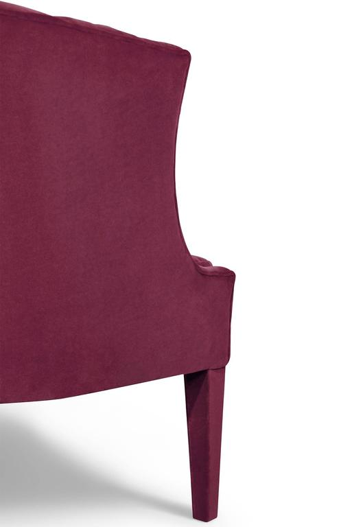 Camilla Armchair in Cotton Velvet and Fully Upholstered In Excellent Condition For Sale In Paris, FR