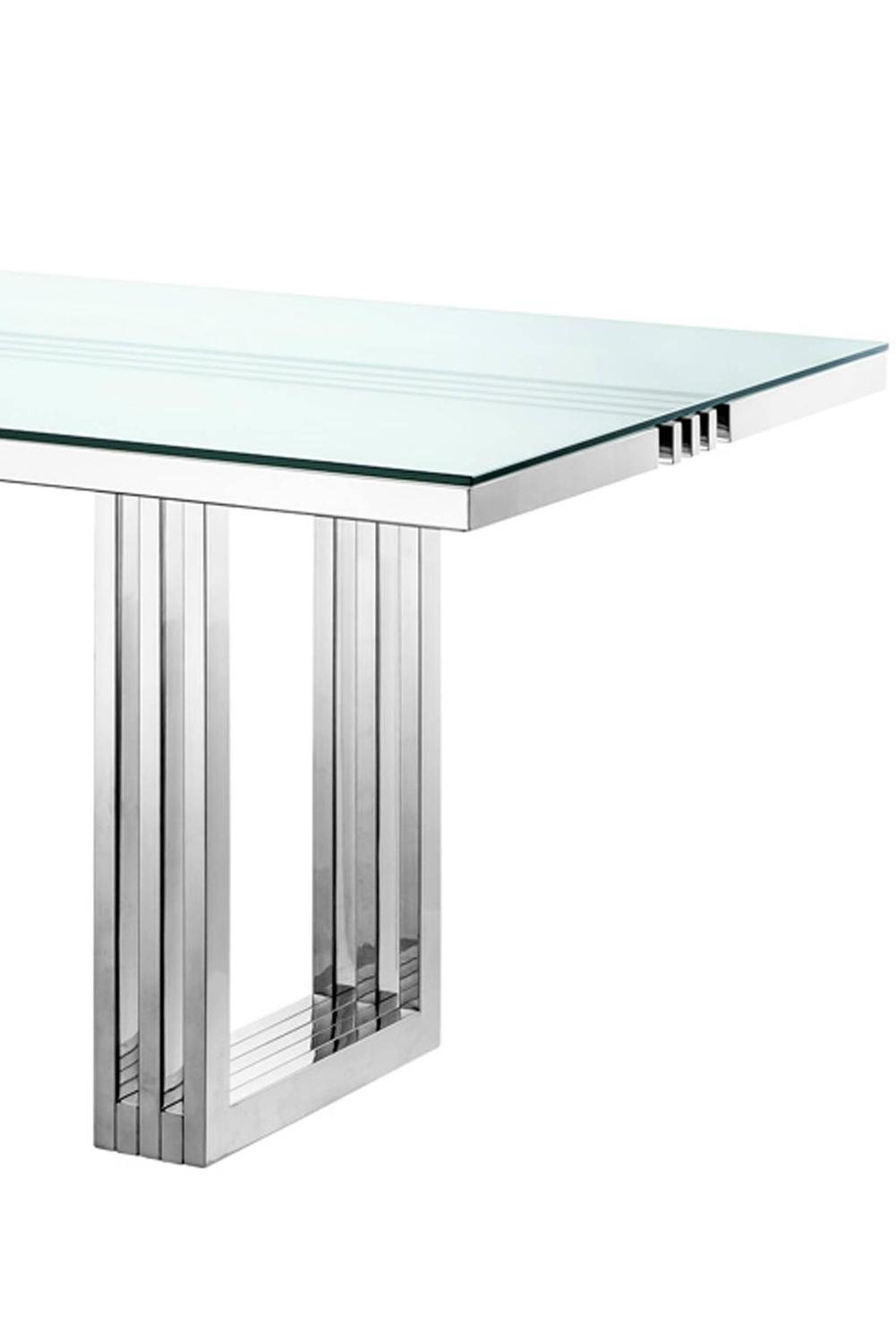 Stainless Steel Dining Table With Glass Top Contemporary  : Sanstitre5copiez from www.amlibgroup.com size 1001 x 1500 jpeg 36kB
