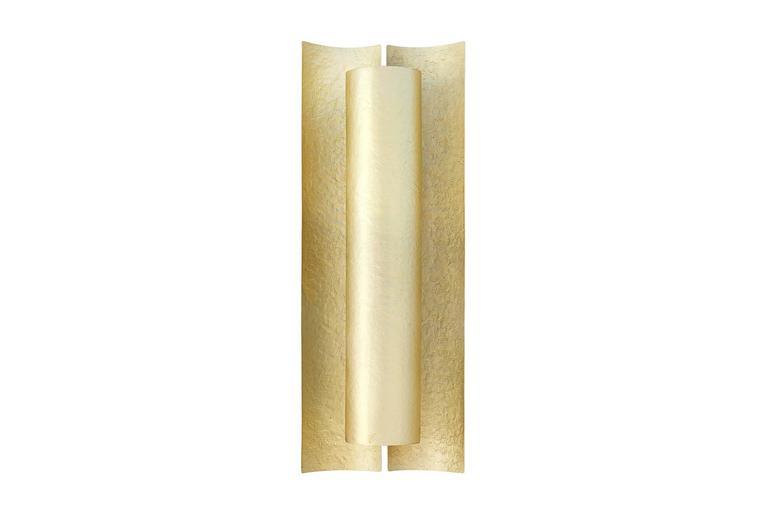 Matt Brass Wall Lights : Aurora Wall Light Matt Hammered Brass For Sale at 1stdibs