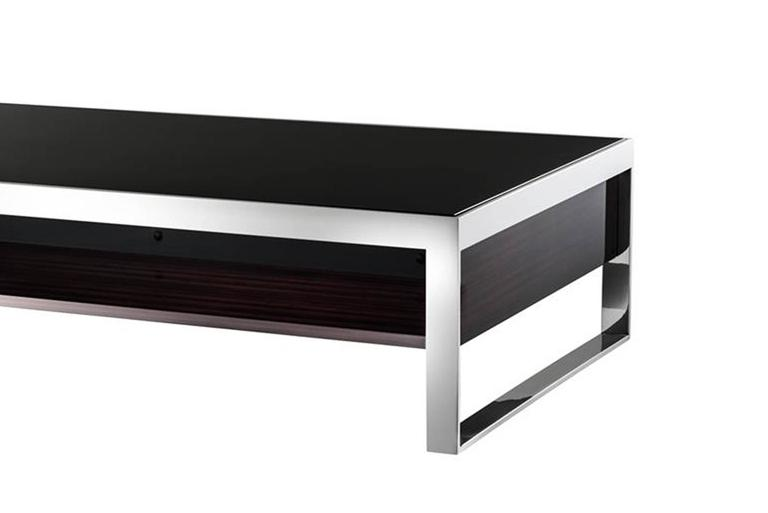 Chicago Coffee Table In High Gloss Ebony Finish For Sale At 1stdibs
