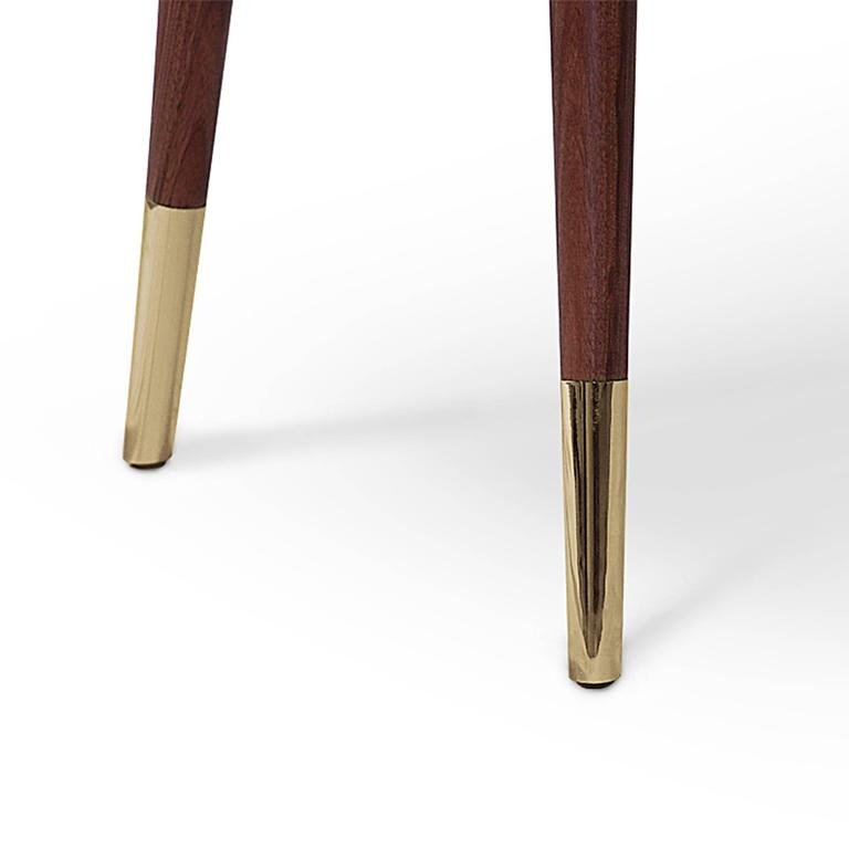 Golden Drawers Desk Walnut Wood For Sale 2