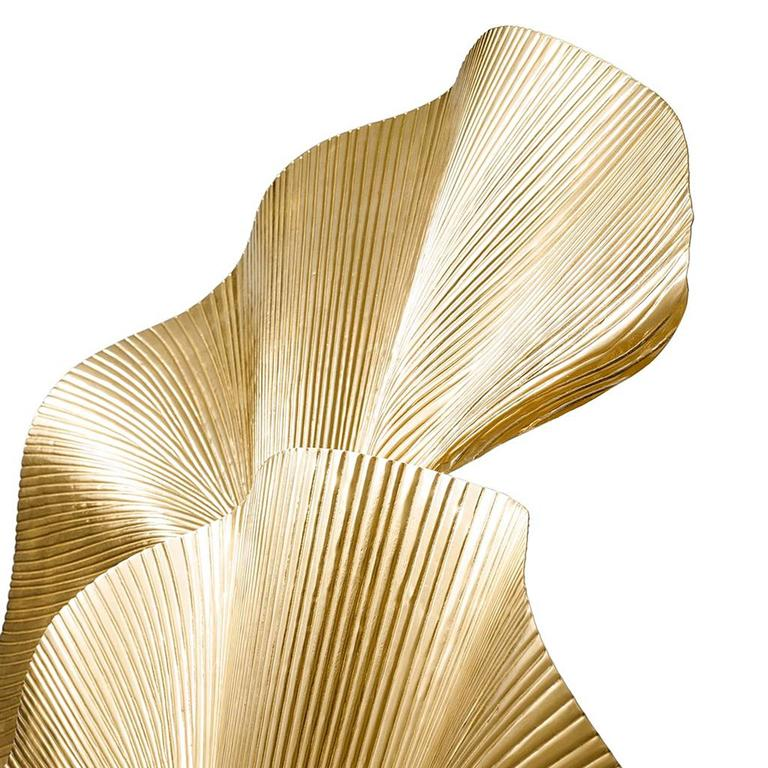 Table lamp Ginko Biloba in polished brass.