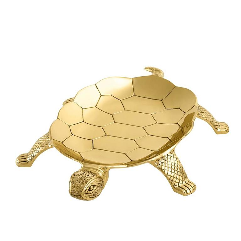 Tortuga Tray in Polished Brass For Sale