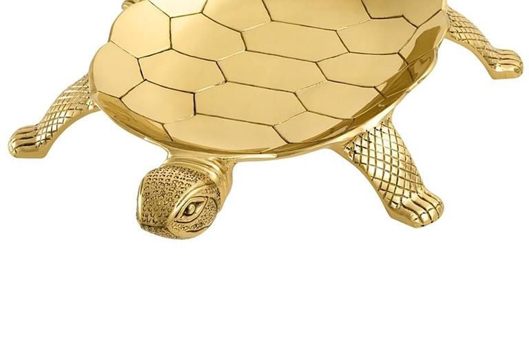 Dutch Tortuga Tray in Polished Brass For Sale