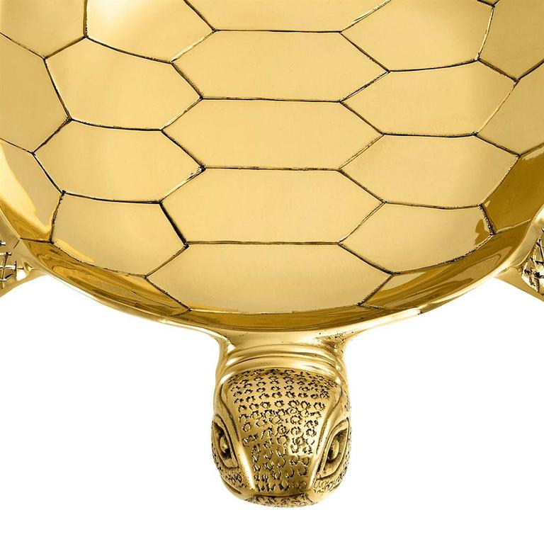 Tortuga Tray in Polished Brass For Sale 3