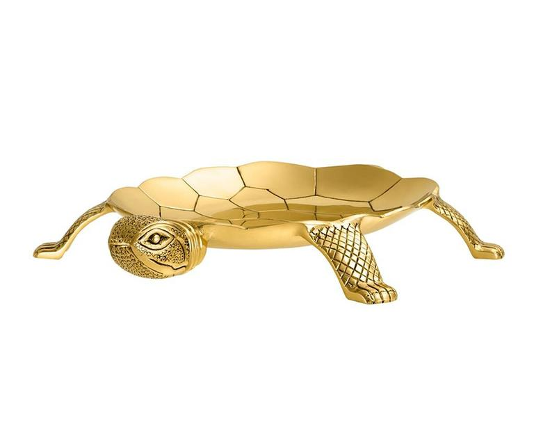Tray Tortuga in polished brass, original