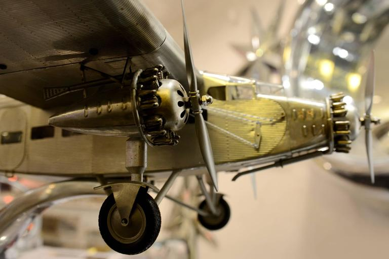 Ford Aircraft Model Trimotor in Aluminium In Excellent Condition For Sale In Paris, FR