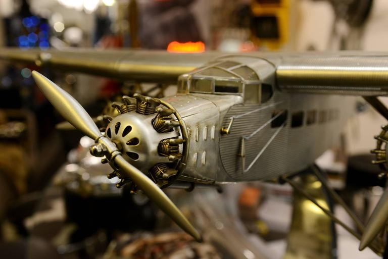 Hand-Crafted Ford Aircraft Model Trimotor in Aluminium For Sale