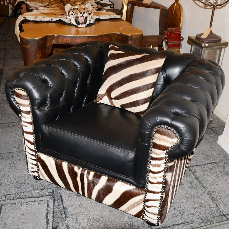 Armchair Zebra with real south Africa zebra skin,