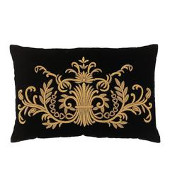 Ryad Pillow Gold Thread and Black Velvet