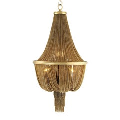 Grand Hotel Chandelier in Brass and Gold Tones Finish
