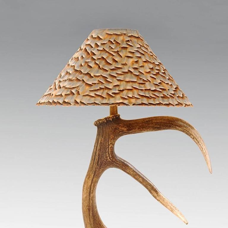 Antler one table lamp with partridge feather lamp shade for sale at scottish antler one table lamp with partridge feather lamp shade for sale aloadofball Gallery